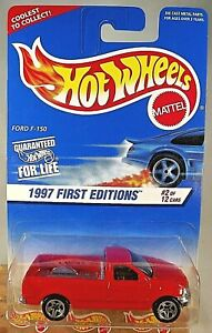 1997 Hot Wheels First Editions Ford F-150 Red 5SP 513