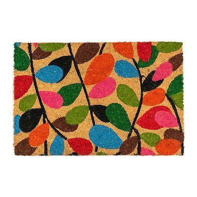 Door Mat Non Slip Pvc Coir 90 X 60cm Leaves Indoor Welcome Mats Doormats 5055512078943 Ebay