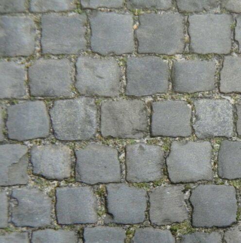 """Dolls House 1//12th scala /""""Cobblestone Road Pavimentazione-PART WORN/"""" Carta-FOGLIO A4"""