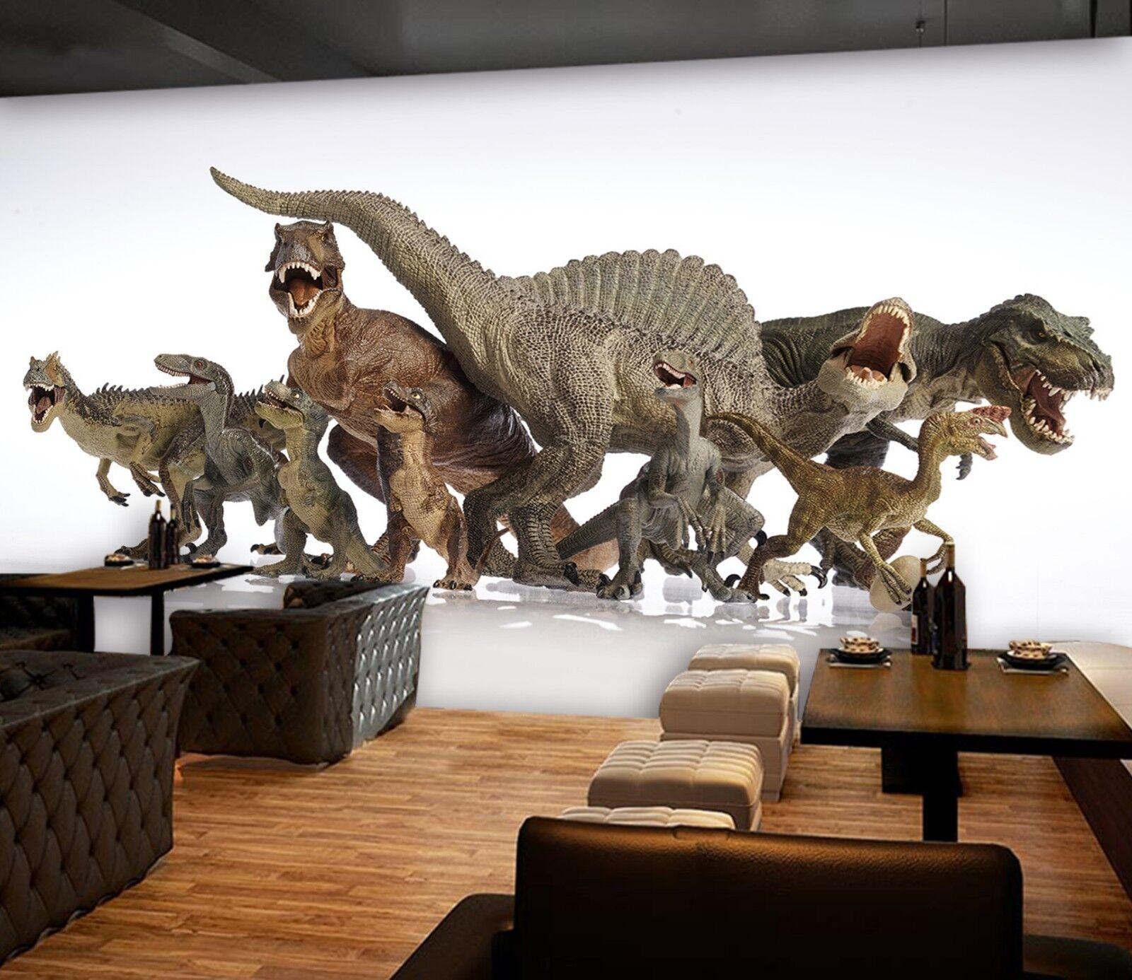 3D Dinosaur Group Picture 2 Wallpaper Mural Print Wall Indoor Wallpaper Murals