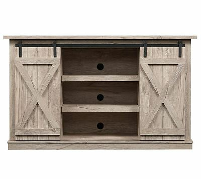 Rustic Tv Stand Console Up To 60 Quot Barn Door Wood Farmhouse