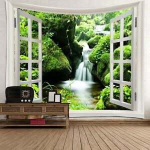 Waterfall Tapestry Art Nature Pattern Wall Hanging Tapestry Home Decor Bedspread