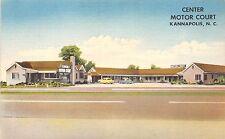 B55/ Kannapolis North Carolina NC Postcard Center Motor Court Roadside