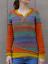 Mode-Femme-Pull-Chandails-Casual-Chaud-Loisir-Bande-Couture-Manche-Longue-Plus miniature 6