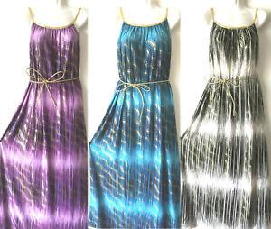 Plus-Size-Women-Long-Maxi-Summer-Beach-Hawaiian-Boho-Evening-Party-Sundress-Gold