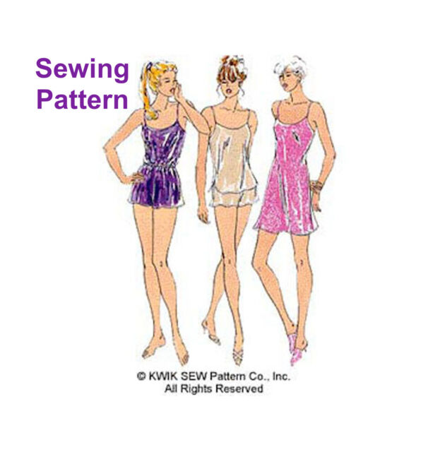 Kwik Sew Lingerie Sewing Pattern K2589 Misses Chemise Camisole ...