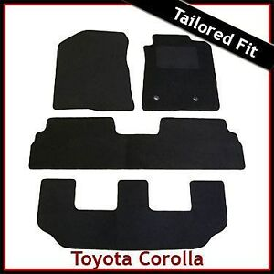 toyota corolla verso mk2 2004 2009 3 rows tailored carpet car floor mats black ebay. Black Bedroom Furniture Sets. Home Design Ideas