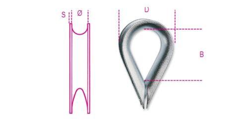 8020 4mm Thimble Italian Light Type Galvanized080200004 Robur Wire Rope Acc