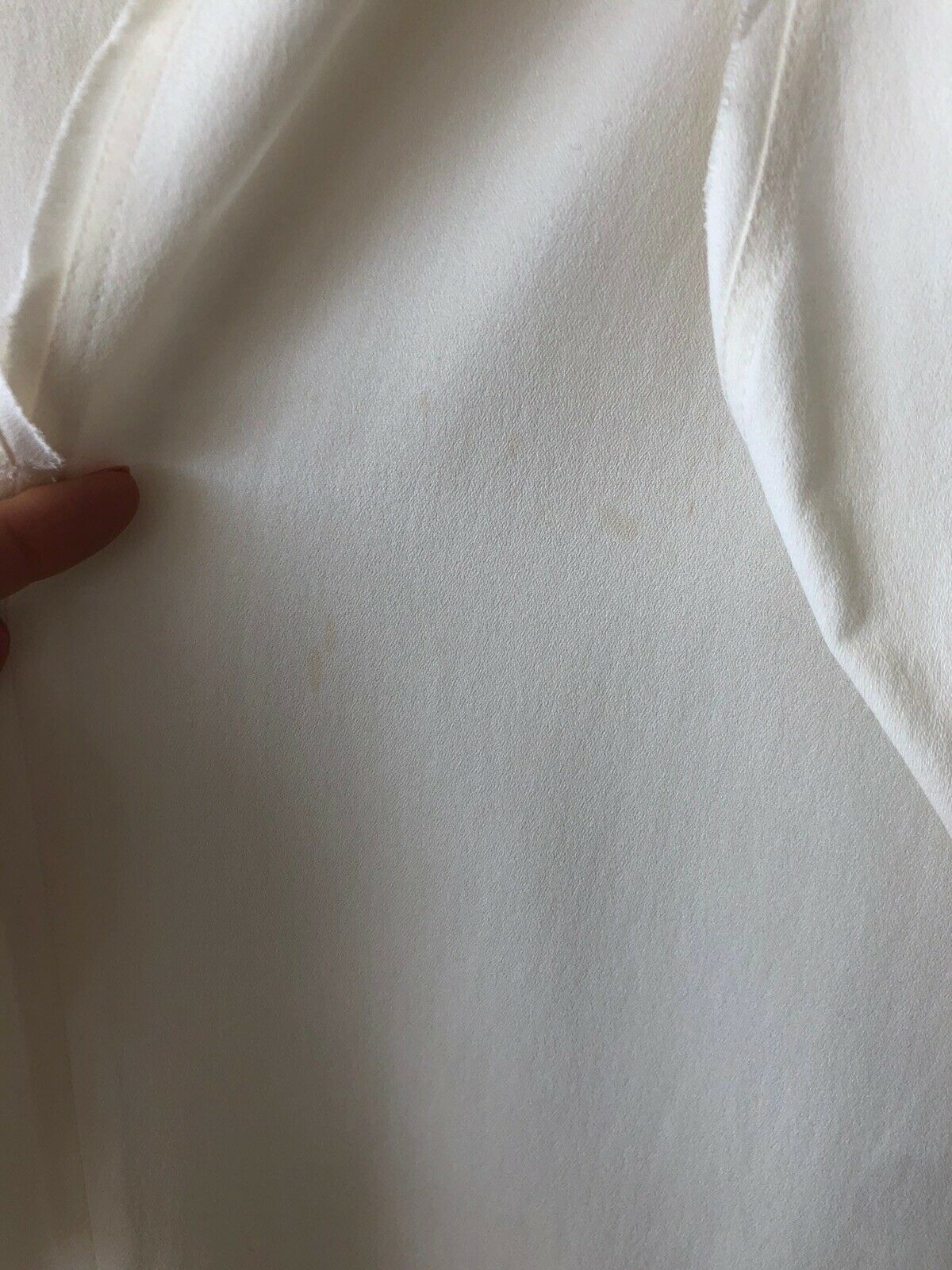 FENDI Silk Ruffle White Ivory Top Blouse SZ 44 - image 11