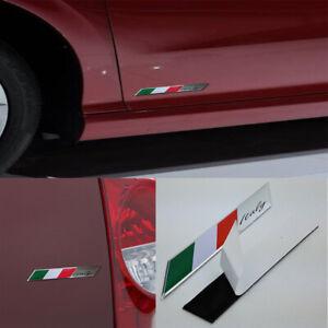 Italy Italia Edition Chrome Emblem Italian Flag 3D Decal Car Bike Badge