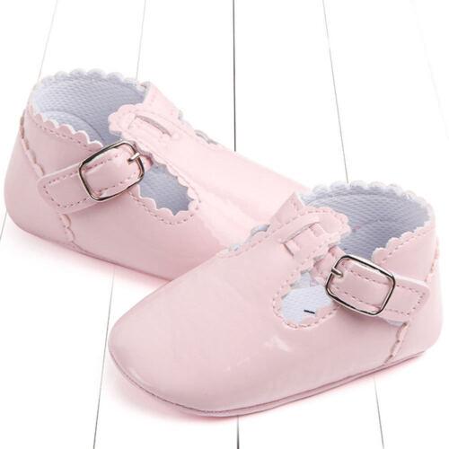 Recién Nacido Bebé Niña Princesa Suela Suave Zapatos Niños que empiezan a caminar Cuna Mocasín Botas De Reino Unido 0-18 M