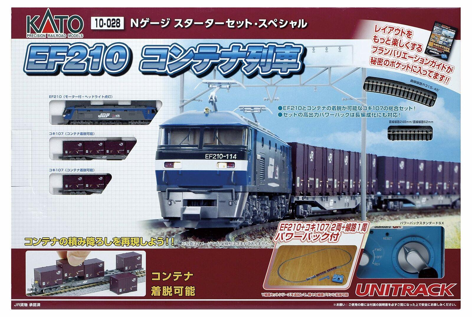 Kato Escala N EF210 y tren de contenedores Escala N Estrellater Set 10-028