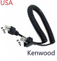 Replacement Mic Cable 8pin For Kenwood Tk-863g Tk-868 Tk-868g Tk-880 Tk-880g Usa
