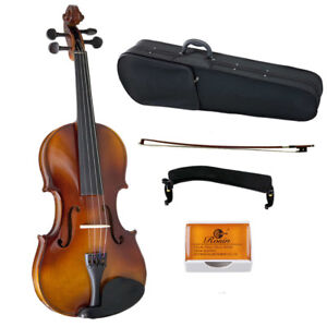 Sky-Solid-Wood-Violin-4-4-Full-Size-LEFT-HAND-Style-w-Case-Rosin-and-Bow