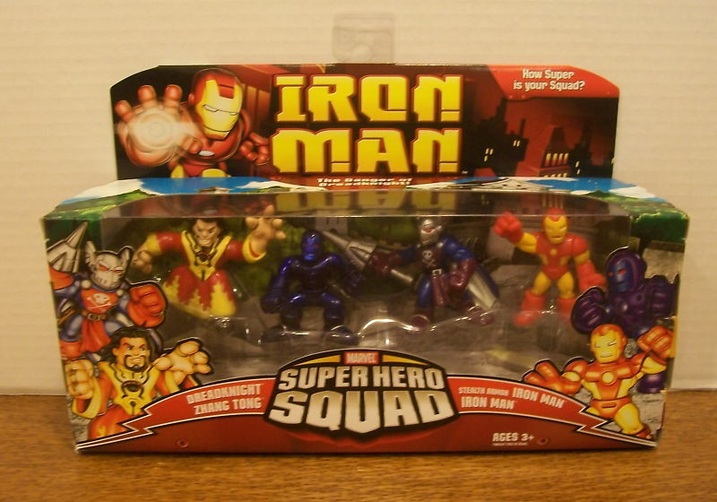 MARVEL SUPER HERO SQUAD IRON MAN    DANGER OF DREADKNIGHT ZHANG TONG STEALTH ARMOR a8c232