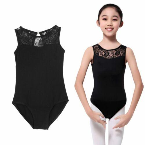 Girl NEW Ballet Dance Floral Leotard Dancing Clothes Sleeveless Bodysuit Costume
