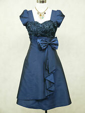 Cherlone Small Size Blue Prom Formal Ball Evening Wedding Bridesmaid Dress 8-10