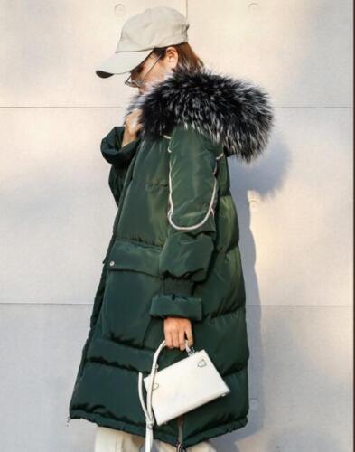 Luxury Jacket Winter Moda Allentato 3409 Donna Luxury Hooded Coat Outwear Down Fur qwa8w