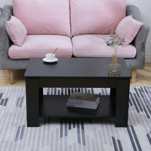 Cromer Wooden Coffee Table Side Table Sliding Top /& Storage Shelf Living Room