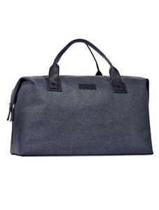 John Varvatos Blue Duffle Bag Weekender