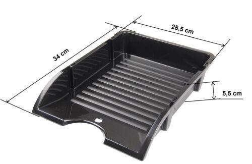 Büroablage schwarz Ablagebox Ablagekorb für A4 Blätter Briefablage