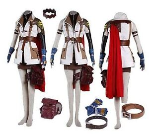 Image Is Loading Final Fantasy XIII Lightning Costume Cosplay Dress Anime