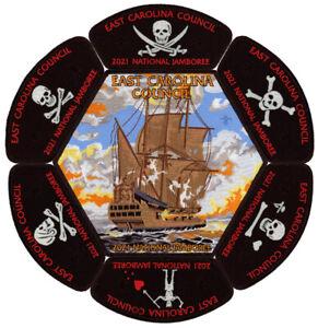 2021-National-Jamboree-East-Carolina-Council-JSP-CSP-Pirate-Patch-Badge-Set-Lot