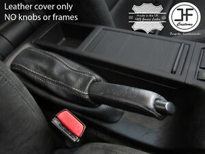 RED STITCHING E BRAKE HANDLE REAL LEATHER COVER FOR BMW 3 SERIES E30 81-92