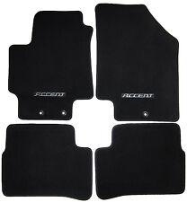 4 New Genuine Oem Factory Accent Floor Mats Set W Logo Carpet Carpeted Black