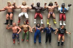 Vintage 1980s LJN WWF Wrestling Superstars Lot 10 Figure Macho Man JYD FLASHSALE