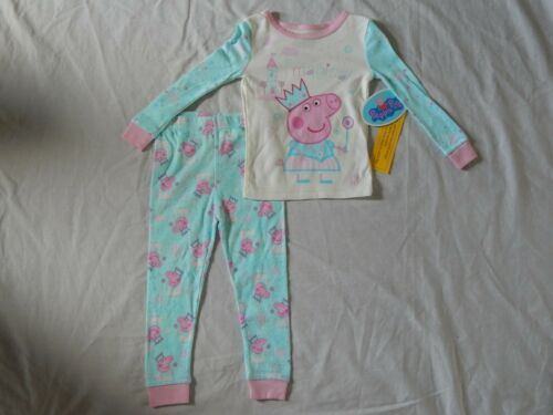 Peppa Pig Figure 2 Piece Sleep Set Pajamas Outfit NEW Magic Girls Toddler 2t 3t