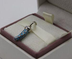 Copieux Authenic Pandora Turquoise Amulette Charme 397203en168 #1247-afficher Le Titre D'origine Apparence Brillante Et Translucide