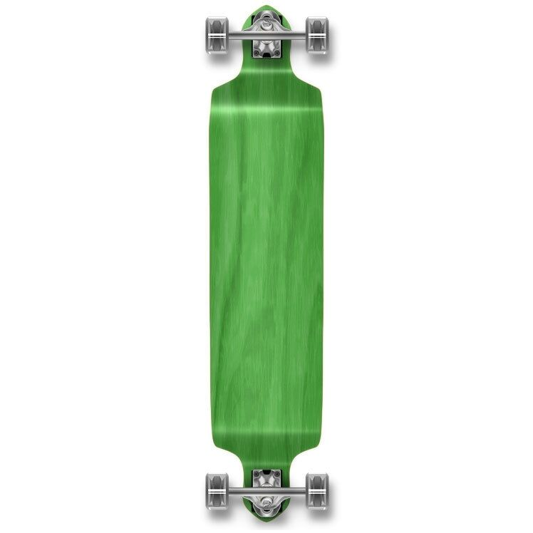 Yocaher Drop Down Blank Longboard  Complete - Stained Green  welcome to buy