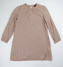 A.P.C. Pink Check Plaid Tunic Smock Dress Size Small