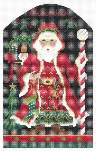 Needlepoint Handpainted Kelly Clark Monthly Santas ~ Choose Canvas//Stitch Guides
