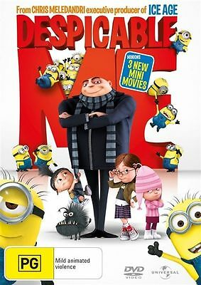 DESPICABLE ME DVD Steve Carell Russell Brand Julie Andrews ANIMATION (Sealed) R4