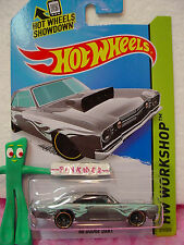 Case K/L 2014 i Hot Wheels '68 DODGE DART 1968 #211 ~Gray; Blue Flame~Heat Fleet