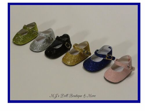 Blue Sparkle Mary Jane Shoes fits American Girl Doll