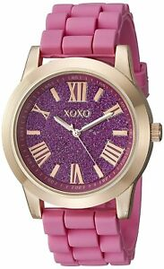 XOXO Women's Watch XO8086 Rose Gold Pink Casual Silicone
