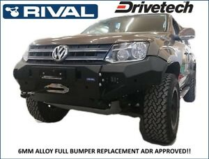 Details about RIVAL 4X4 ALLOY WINCH BAR VW AMAROK 4CYL- 6CYL 2011 ON 4WD  BULL BAR RUSSIAN MADE