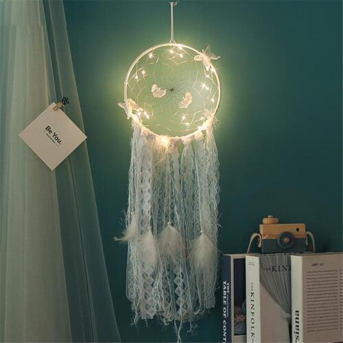 Handmade Dream Catcher LED Light Dreamcatcher Home Wall Hanging Ornament Gift