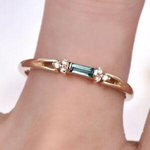 Baguette-Cut-Green-Emerald-Minimalist-Engagement-Ring-14k-Yellow-Gold-Finish