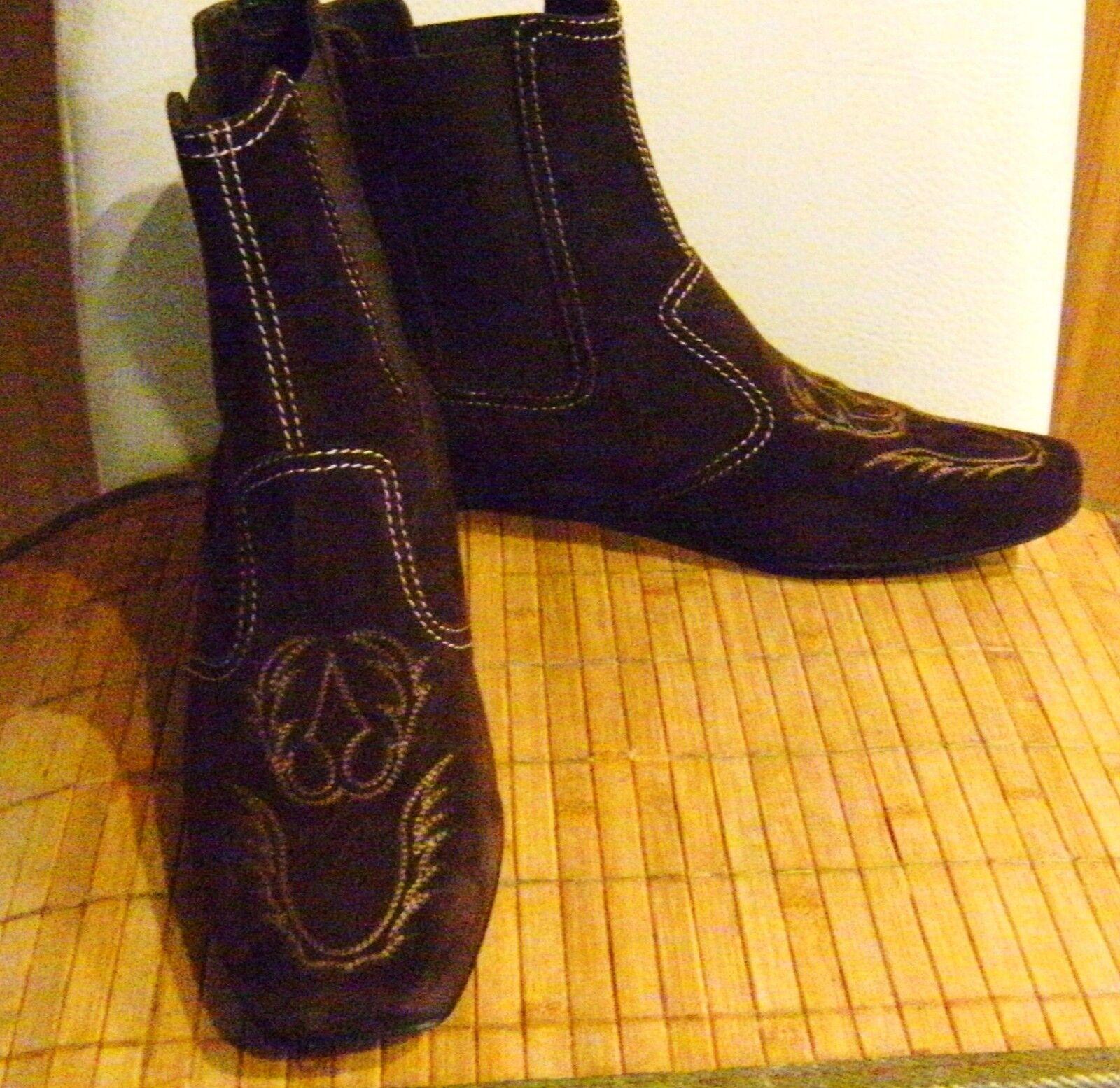 TOD`S Chelsea-Stiefel Leder Veloursleder Stiefeletten Stiefel GR 36,5 Veloursleder Leder Schuhe NEUw. 008791
