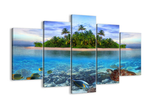 30 patterns-De 2686 Canvas Pictures Digital Art-Island Tropical Fish