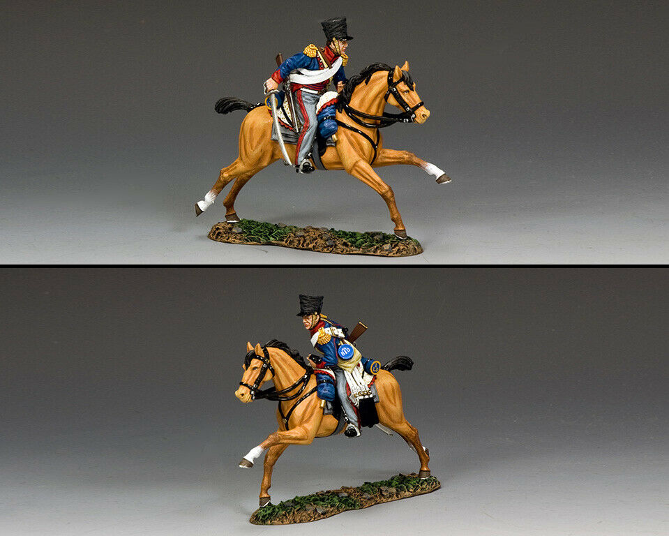 King & Country die Age Of Napoleon NA428 Kgl Licht Dragoner Ladung MIB