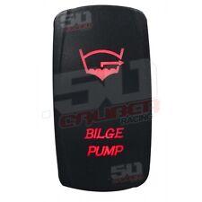 Red On/Off Rocker Switch Bilge Pump 50 Cal Universal Rock Crawler Side By Side