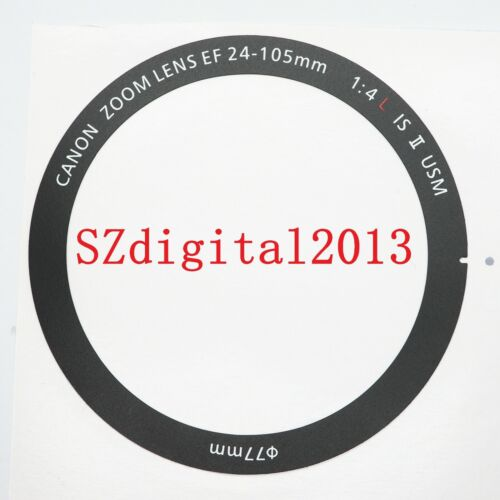 Lens Front Name Ring Nameplate Label Logo Barrel For Canon EF 24-105mm f//4 IS II