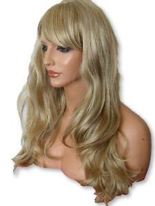 Ash-blonde-long-wig-women-039-s-natural-fashion-costume-real-natural-look-wavy-G-22