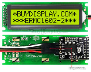 Black IIC//I2C//TWI 16x2 Serial Character LCD Module Display for Arduino w//Library
