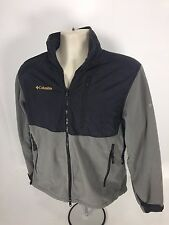Mens Columbia Interchange Titanium Full Zip Fleece Jacket Coat Sage Black Size M